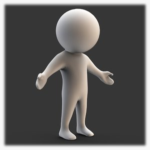 stickman base figure 3D model
