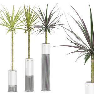 potted plants set 56 3D model