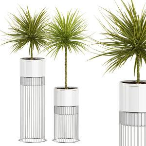 3D model potted plants set 55