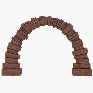 realistic brick arch 3D