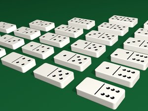 3D dominoes tiles model
