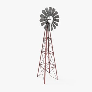 vintage windmill 3D
