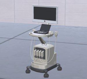 ultrasound machine 3D model
