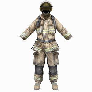 3D firefighter uniform model