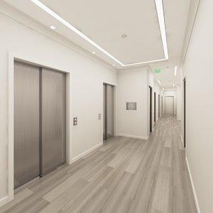 hallway games 3D model