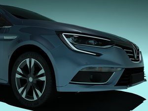 3D renault megane iv car model