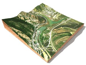 3D mountain landscape mtskheta georgia