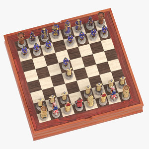 chess board set 01 model
