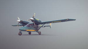 3D accord-201 greenyellow livery airplane