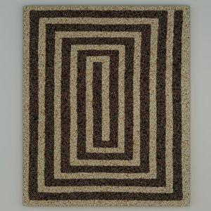 3D model art deco style carpet