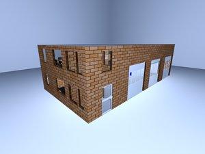 garage service station 3D model