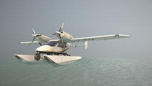 3D accord-201 floatsplane blackgoldlines livery model