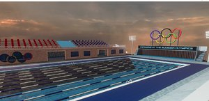 olympic swimming pool 3D