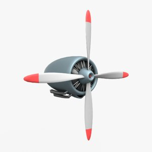 aircraft engine 3D model