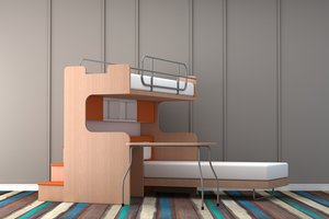 bunker bed 3D model