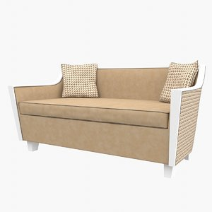 sofa acquamarina galimberti nino 3D model