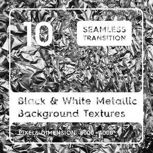 Black & White Metallic Textures