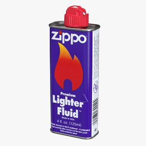 realistic zippo lighter fluid 3D model