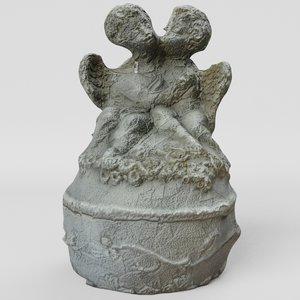 sculpture angels destroyed 3D model