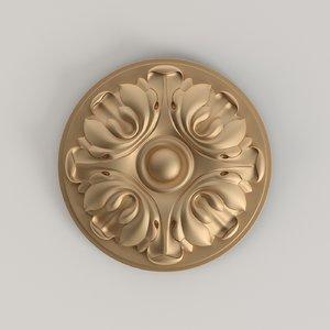 decorative rosette model