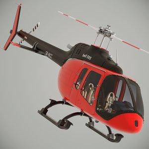 3D bell 505 jet ranger