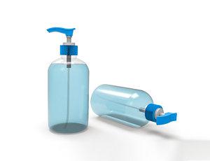 3D sanitizer bottle