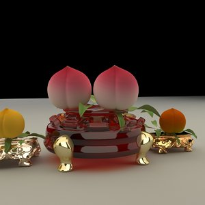 3D chinese gourd model