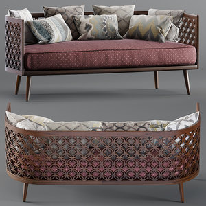 3D model arabesque sofa