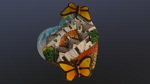 italy alberobello magnet souvenir 3D model