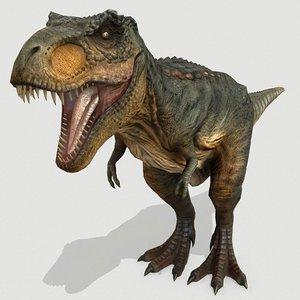 3D tyrannosaurus dinosaurs