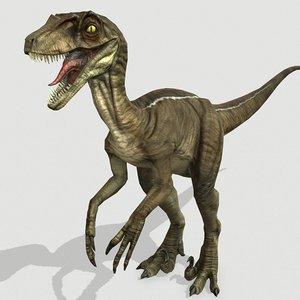 raptor dinosaurs 3D model