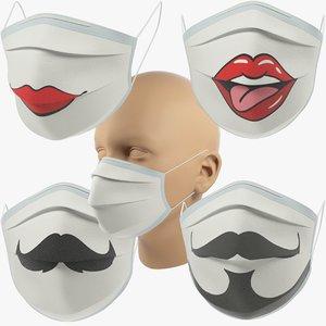 medical masks v3 3D model
