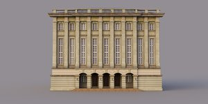 neoclassical architecture building 3D