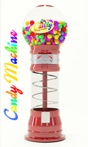 candy machine 3D model