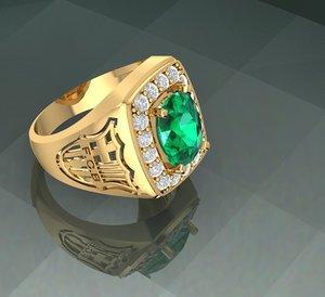 diamond ring barcelona 3D model