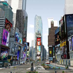 3D model new york square