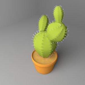 cactus plant 5 3D model