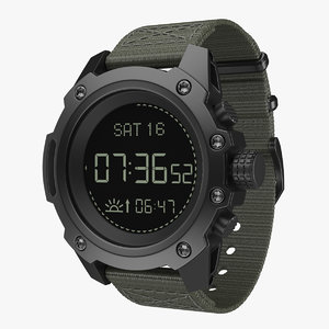 3D model military watch 3