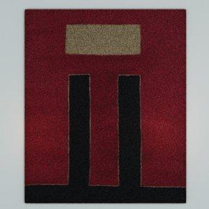art deco style carpet 3D