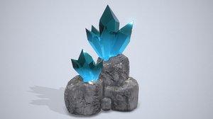 3D cave crystals model