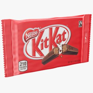 real kitkat chocolate bar 3D model