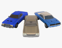 3 Retro Muscle-Cars Pack