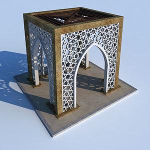 modern arabic gate 3D
