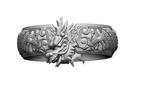 3D dragon ring printable model