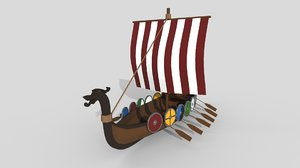 viking ship 3D