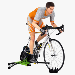 3D model animations cyclist