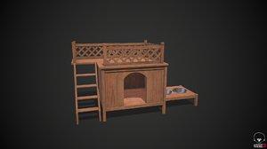 3D dog kennel
