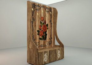 3D coat stand floral pattern