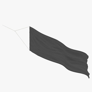 banner wind - horizontal 3D model