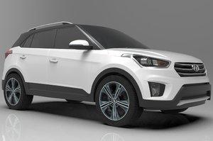 hyundai creta car 3D model